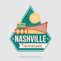 Nashville City Paysage vecteur