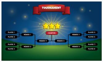 Affiche du support de tournoi vecteur