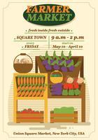 Modèle de Flyer de marché fermier