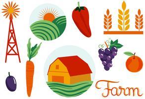 Agriculture 2 vecteurs vecteur