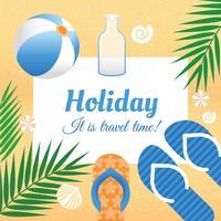 Illustration vectorielle de vacances d'été
