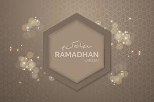 bannière de ramadan avec cadre