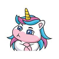dessin animé de licorne est jaloux vecteur