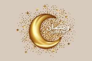 concept de ramadan de lune réaliste
