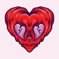coeur isolé brisé valentine vecteur