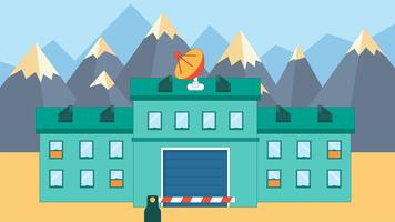 Illustration de bâtiment militaire Vector