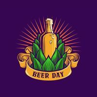 illustration de bannière de jour de bière