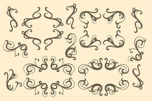 Éléments Art nouveau vecteur
