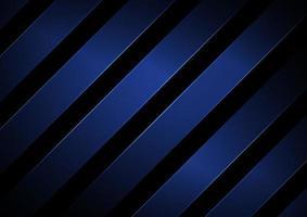 rayures abstraites lignes diagonales géométriques de couleur bleue avec éclairage sur fond noir. vecteur
