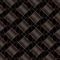 motif géométrique élégant ligne or sur fond noir style art déco. vecteur