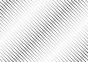 abstrait motif de demi-teintes diagonales noires sur la texture en pointillé de fond blanc. vecteur
