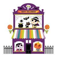 Super mignon maison de terrasse de monstres d'halloween