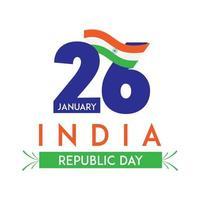 jour de la république de l'inde le 26 janvier fond d'écran vecteur