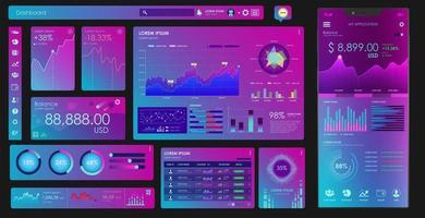 éléments d'interface utilisateur pour l'application mobile financière numérique. vecteur