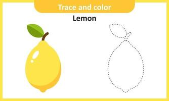 trace et couleur citron vecteur