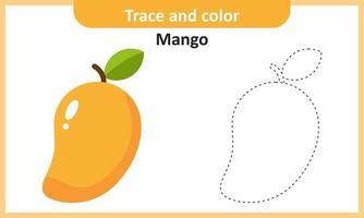 trace et couleur mangue vecteur