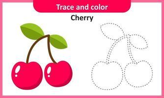 trace et couleur cerise vecteur