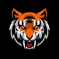 mascotte tête de tigre en colère