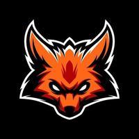 mascotte tête de renard vecteur