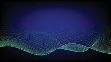 réseau connecté avec fond de vagues
