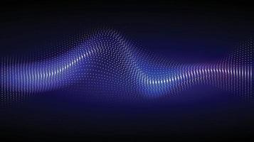 l'image d'arrière-plan de ton sombre se compose de points lumineux dans les vagues. vecteur