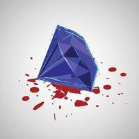 diamant avec du sang vecteur