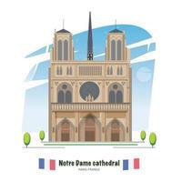 Cathédrale Notre Dame vecteur