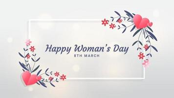 modèle de fond pour la journée internationale de la femme. carte de voeux modèle de vacances du 8 mars vecteur