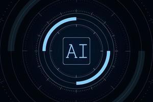 concept de technologie futuriste d'intelligence artificielle vecteur