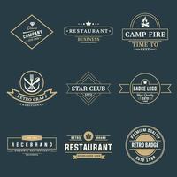 modèle de conception de logo vintage rétro pour entreprise et entreprise vecteur