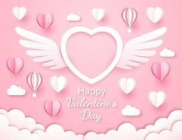 papier de carte de la Saint-Valentin coupé fond de style.
