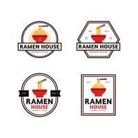 Ramen House Collection de badges vecteur