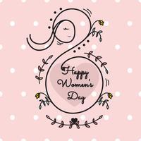 Vecteur de la journée des femmes heureux
