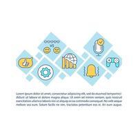 icône de concept de dépendance aux médias sociaux avec texte