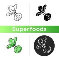 icône de nourriture de chou-rave