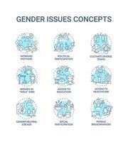 jeu d & # 39; icônes de concept de questions de genre