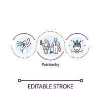icône de concept de patriarcat
