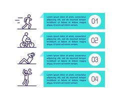 icône de concept de mesures d & # 39; entraînement avec texte