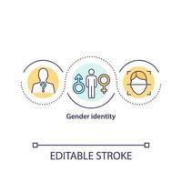 icône de concept d'identité de genre