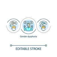icône de concept de dysphorie de genre