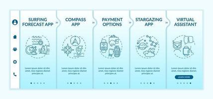 modèle de vecteur d'intégration des capacités de smartwatch