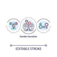 icône de concept de transition de genre