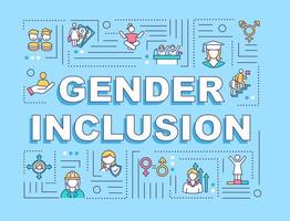 bannière de concepts de mot inclusion de genre