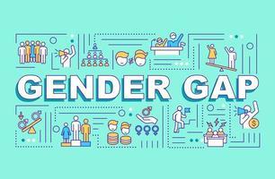 bannière de concepts de mot écart entre les sexes