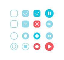 kit d'éléments d'interface utilisateur paramètres du lecteur audio