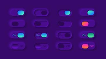 kit d'éléments d'interface utilisateur commutateurs de lecteur vidéo