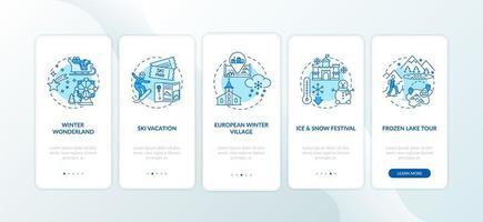 Écran de la page de l & # 39; application mobile avec des concepts