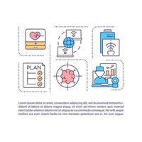 icône de concept de santé virtuelle avec texte