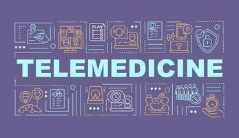 bannière de concepts de mot télémédecine