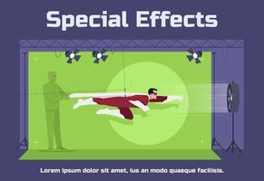 modèle d'affiche sociale d'effets spéciaux